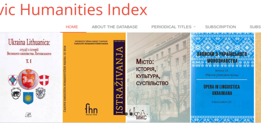Slavic Humanities index